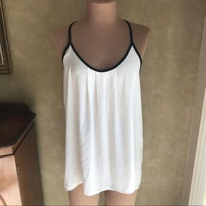 Ro and De Sleeveless Blouse white and black